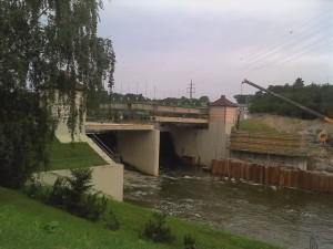 Hráz přehrady České údolí Plzeň